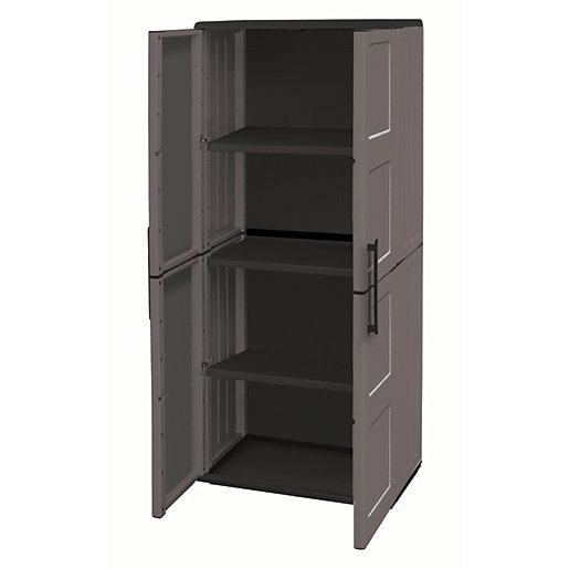 Large Exterior Storage Cabinet with Shelves - 370