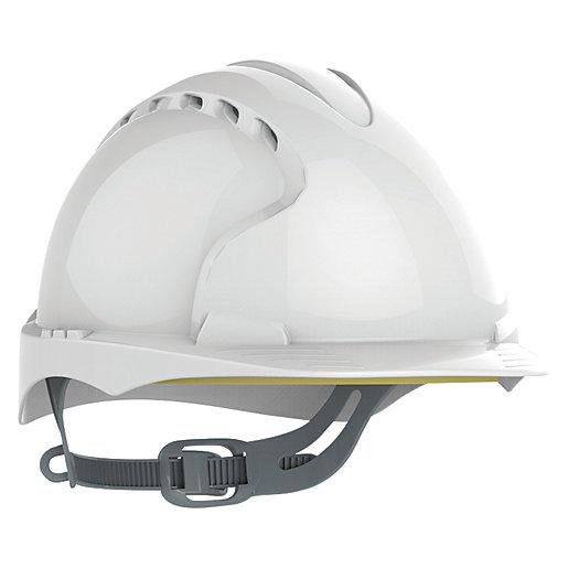 JSP Evo2 Mid Peak Helmet - White -Vented