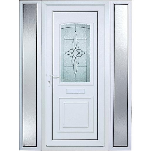 Wickes Medway 2 Sidelight Pre-hung Upvc Door 2085