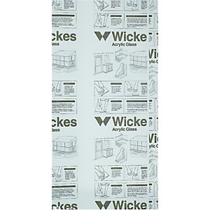 Wickes Durable Clear Acrylic Sheet - 600mm X 1220mm