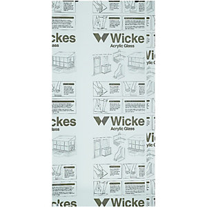 Wickes Durable Clear Acrylic Sheet - 900mm X 1800mm