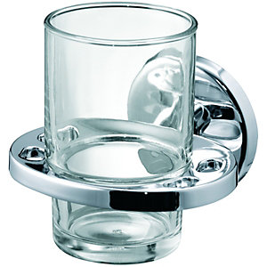 Wickes Boston Chrome Toothbrush Holder & Tumbler