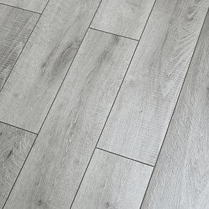 Novocore Embossed Light Grey Luxury, Grey Bathroom Laminate Flooring