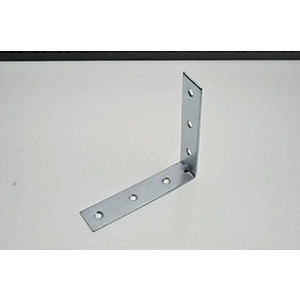 Wickes 102mm Zinc Plated Angle Bracket Pack 4