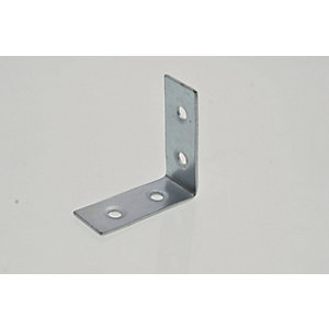Wickes 38mm Zinc Plated Angle Bracket Pack 4
