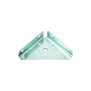Wickes 63mm Zinc Plated Flange Bracket Pack 4