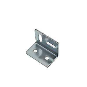 Wickes Stretcher Plate Zinc Plated 38 x 28mm Pack 20