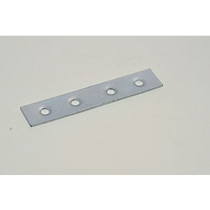 Wickes Zinc Plated Mending Plate 76mm Pack 4