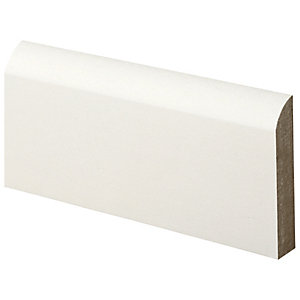 Wickes Bullnose Primed MDF Architrave - 18mm x 69mm x 2.1m Pack of 5