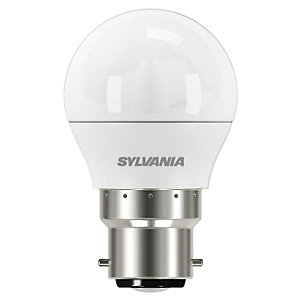 Sylvania LED Dimmable Frosted Mini Globe B22 Light Bulb - 5.6W