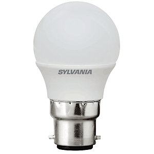 Sylvania LED Non Dimmable Frosted Mini Globe B22 Light Bulb - 5W