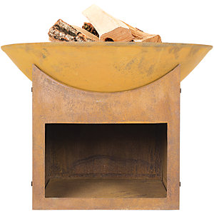 La Hacienda Fasa Naturally rusted Outdoor Firepit