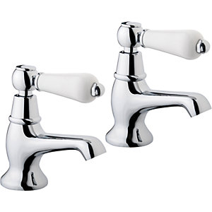 Wickes Enchanted Basin Taps - Chrome