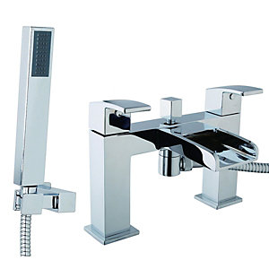 Wickes Waterfall Bath Shower Mixer Tap - Chrome