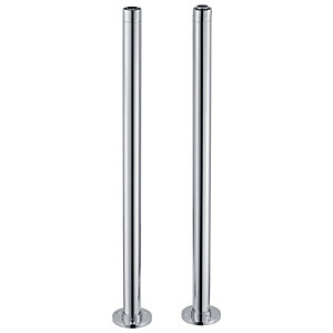 Wickes Decorative Telescopic Standpipes For Freestanding Baths - Chrome