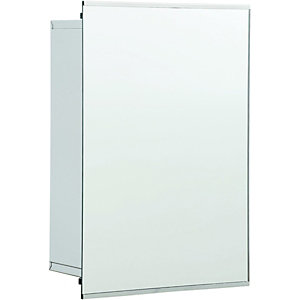Wickes Stainless Steel Sliding Mirror Bathroom Cabinet - 340mm