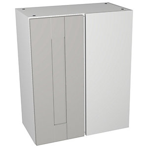 Wickes Vermont Grey On White Floorstanding Corner Storage Unit - 600 x 735mm