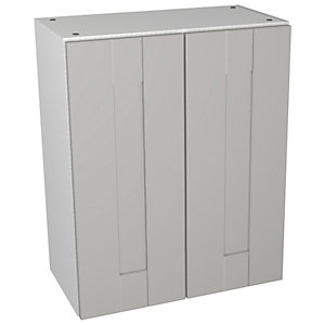 Wickes Vermont Grey On White Floorstanding Storage Unit - 600 x 735mm