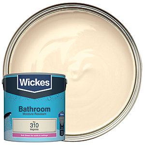 Wickes Magnolia - No. 310 Bathroom Soft Sheen Emulsion Paint - 2.5L