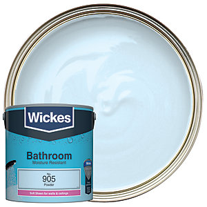 Wickes Powder - No. 905 Bathroom Soft Sheen Emulsion Paint - 2.5L