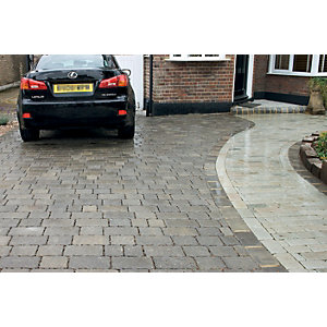 Marshalls Drivesett Tegula Priora Driveway Block Paving - Pennant Grey 120 x 160 x 60mm Pack of 492