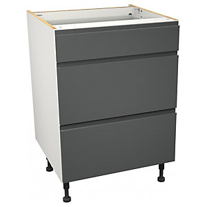 Camden Carbon 3 Drawer Unit - 600mm