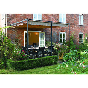 Rowlinson St. Tropez Retractable Garden Canopy Grey - 3300 x 3000 mm