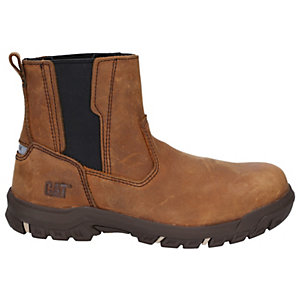Caterpiller Abbey Leather S3 Womens Safety Dealer Boots - Tan