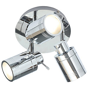 Spa Scorpius Chrome Treble Ceiling Spotlight - 105W