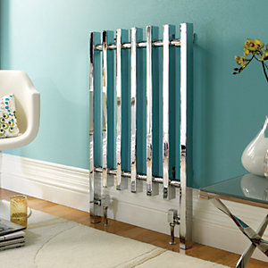 Wickes Dynasty Multi-Column Designer Radiator - Chrome 920 x 570 mm