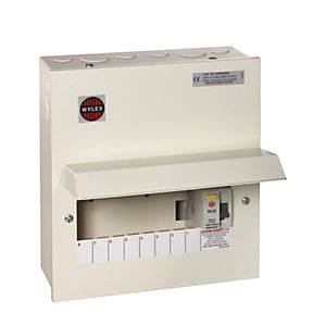 Wylex 8 Way RCD Consumer Unit with 100A RCD