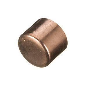 Primaflow Copper End Feed Stop End Cap - 15mm Pack Of 2