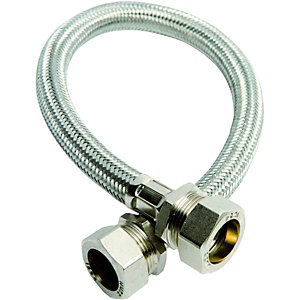 Wickes Flexible Compression Tap Connector - 22 x 22 x 500mm