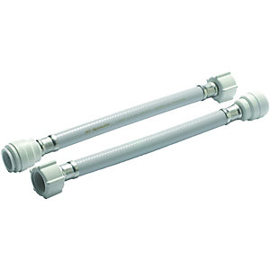 Wickes Hand Tighten Tap Connector - 15 x 19 x 300mm Pack of 2