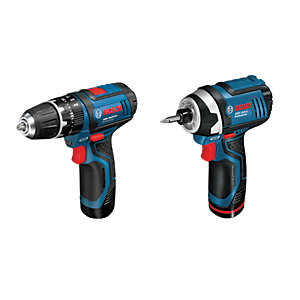 Bosch Professional GSB 12V-15 + GDR 12V-105 Cordless Combi Drill and Impact Driver Twin Pack