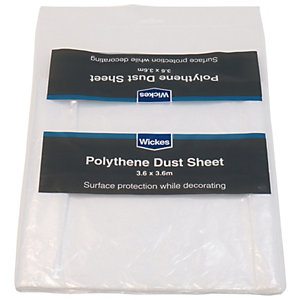Wickes Polythene Dust Sheet - 3.65 x 3.65m