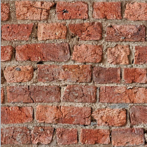 Artistick Urban Red Brick Effect Self Adhesive Wallpaper - 6m x 53cm