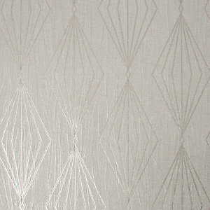 Boutique Marquise Geometric Pearl Wallpaper 10m
