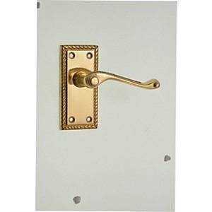 Wickes Cheshire Georgian Scroll Latch Door Handle - Polished Brass 1 Pair