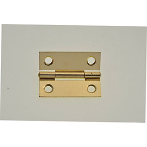 Wickes Butt Hinge - Brass 51mm Pack of 2