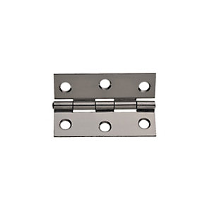Wickes Butt Hinge - Stainless Steel 63mm Pack of 2
