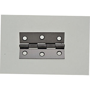 Wickes Butt Hinge - Steel 76mm Pack of 2
