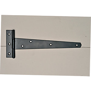 Wickes Medium Duty Tee Hinge - Black Japanned 200mm