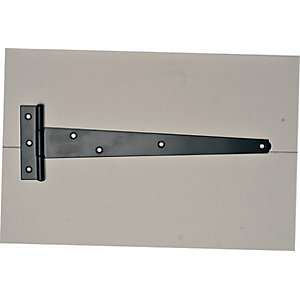 Wickes Medium Duty Tee Hinge - Black Japanned 250mm