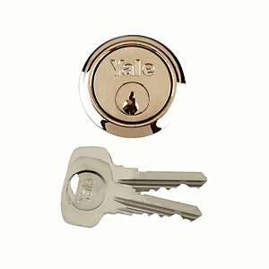 Yale P-1109-PB Replacement Cylinder Lock - Brass