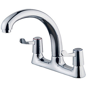 Wickes Modena Deck Kitchen Sink Mixer Tap - Chrome