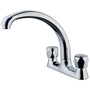 Wickes Trade Deck Kitchen Sink Mixer Tap - Chrome