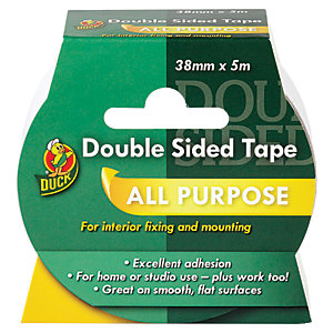 Duck Tape Double Sided Tape White 38mm x 5m
