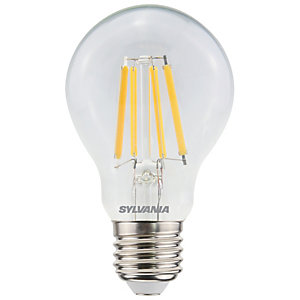 Sylvania LED GLS Clear Filament Dimmable 806 Lumen/60 Watt Equivalent Warm White E27 Cap Fitting