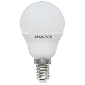 Sylvania LED Non Dimmable Frosted Mini Globe E14 Light Bulb - 5.5W
